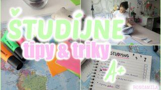 Študíjne TIPY & triky & organizácia ♡