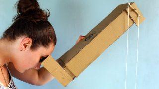 Ako si Vyrobiť Jednoduchý PERISKOP pomocou kartónu a zrkadiel? :)